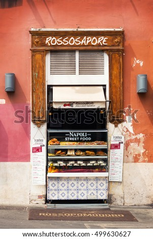 30.04.2016 - Street food vendor in Rome, Italy