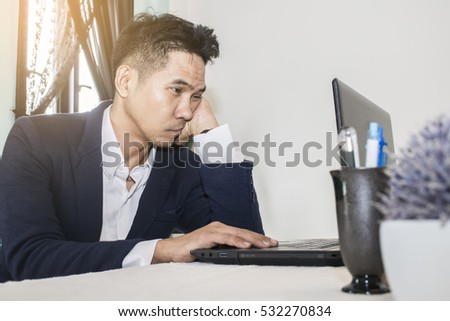 stressful businessman at work