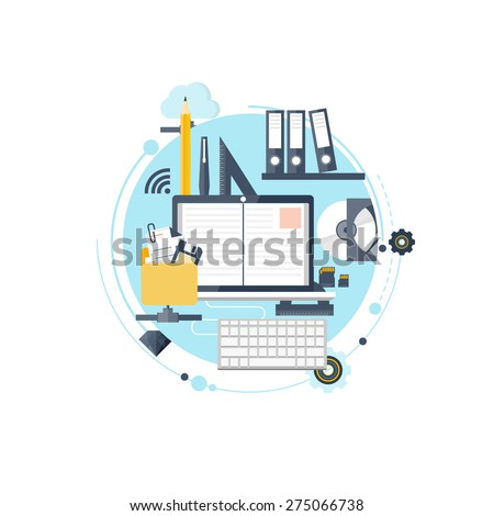 Study and learning concept background. Distance education and online courses, brainstorm and knowledge growth,school and university subjects.Success and smart ideas,learn process and skills up. - stock photo