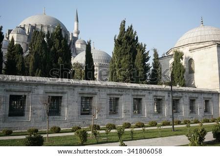 suleymaniye mosque in istanbul - stock photo