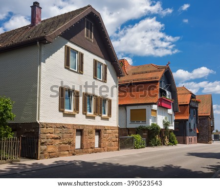 Summer day in the German town of Freudenstadt.Black Forest.Germany.