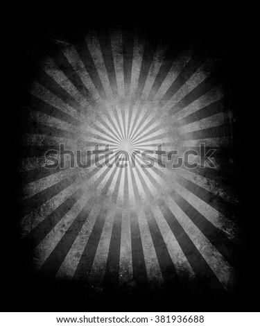 Sunbeams Grunge Background. Beautiful Old Vintage Poster - stock photo