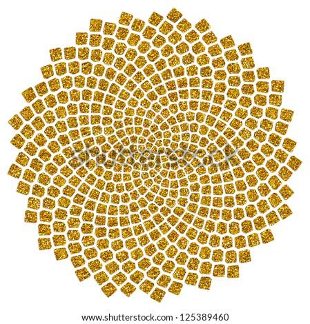 Sunflower Seeds - Golden Ratio / Golden Spiral  /  Fibonacci spiral, golden cut, Pi - stock photo