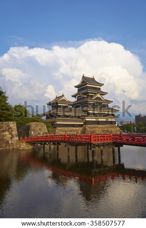 Sunset view of Matsumoto Castle - a National Treasure of Japan, Nagano Prefecture