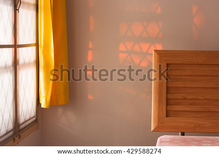 Sunshine in bedroom