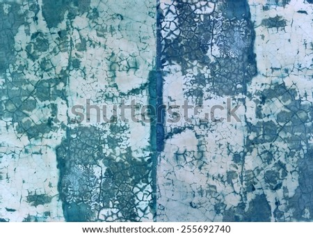 Superb unique  colorful textured  modern   grunge abstract design superimposed  with    grungy  motifs on a  plain background ideal for wallpapers  and chic backgrounds. - stock photo