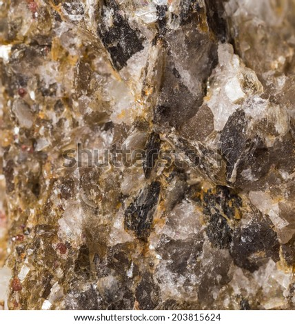 Surface of the mineral. Macro shot. Selective focus with shallow depth of field.  - stock photo