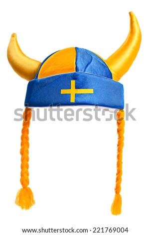 swedish hat , isolated on a white background - stock photo