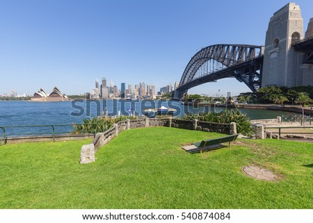 Sydney, Australia Waterfront city skyline
