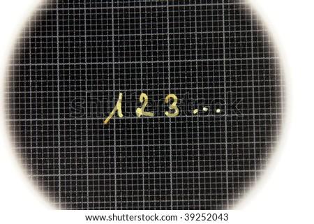 123... symbol - stock photo