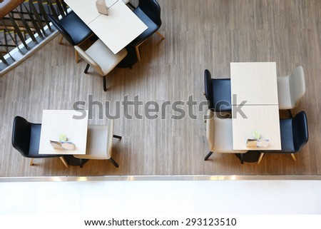 table top view - stock photo