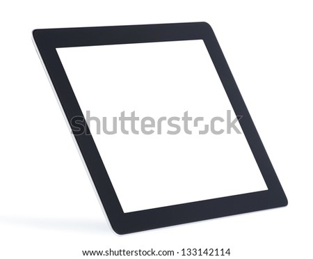 tablet computer isolated on white - stock photo