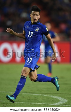 2018 suzuki cup. simple suzuki tanaboon kesarat of thailand in action during the 2018 world cup qualifiers  match between and on suzuki cup