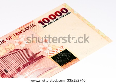 10000 Tanzanian Shillings Bank Note Tanzanian Stock Photo Image