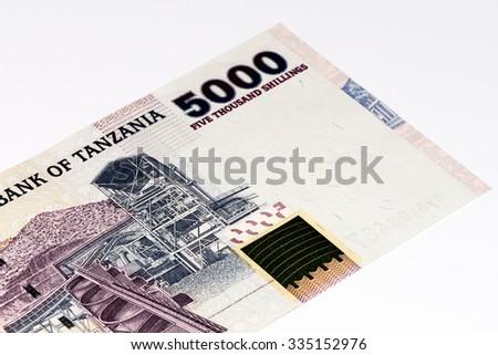 5000 Tanzanian Shillings Bank Note Tanzanian Stock Photo Royalty