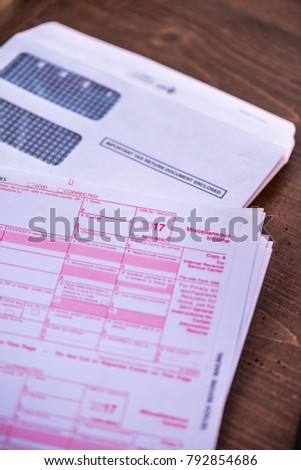 2017 1099 Tax Form Irs Government Stock Photo Safe To Use