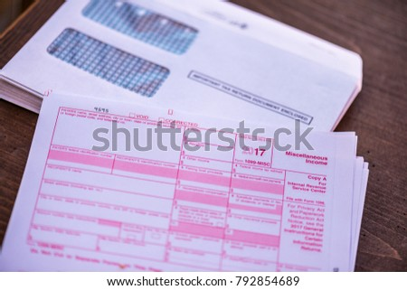 2017 1099 Tax Form Irs Government Stock Photo 792854689 Shutterstock