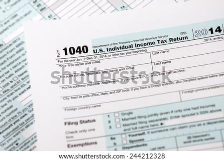 1040 Tax Return Form - stock photo