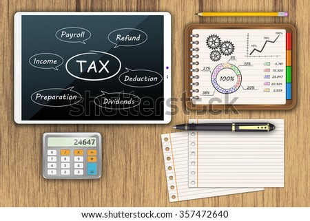Taxation and Finance as concept  - stock photo