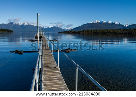Te Anau Downs, New Zealand - stock photo