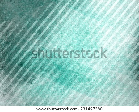 teal blue background with white stripes in diagonal pattern and faint vintage texture - stock photo
