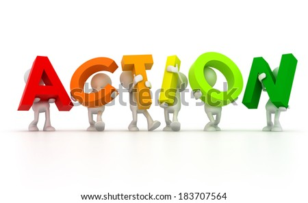 Team forming Action word - stock photo