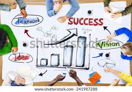 Teamwork Growth Brainstorming Achievement Concept - stock photo
