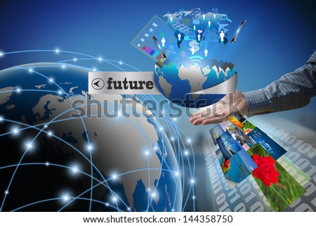 technology business concept, Creative network - stock photo