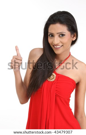 teenage  girl posing  in a challenge expression