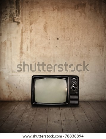 television in room - stock photo