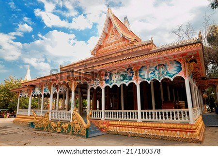 temple Pha That Luang, Vientiane, Laos. - stock photo