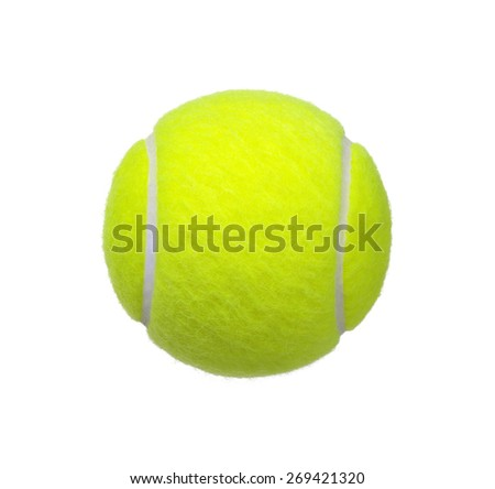 tennis ball isolated on white background - stock photo