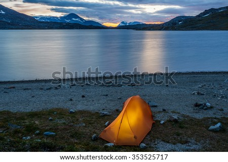 Tent in the Blue Hour