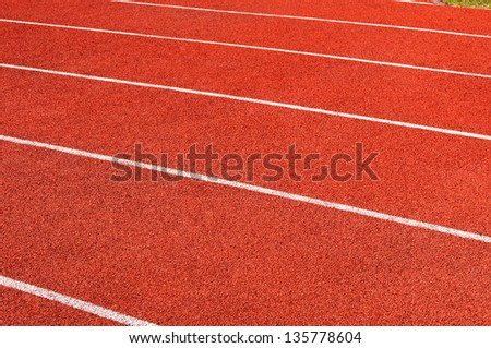 texture of the running track