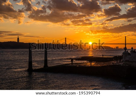 25th April Bridge, Lisbon, Portugal  - stock photo