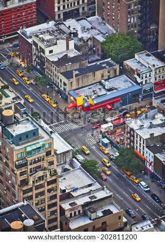 5th Avenue in New York City taken from above - stock photo