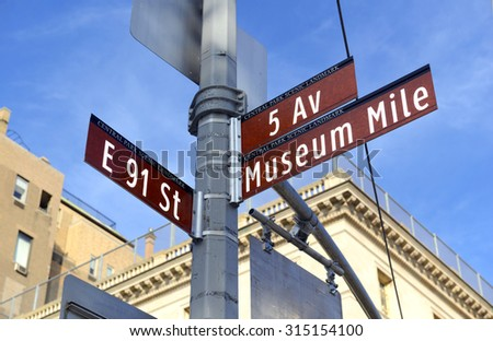 5th Avenue road sign in Manhattan, New York City - stock photo