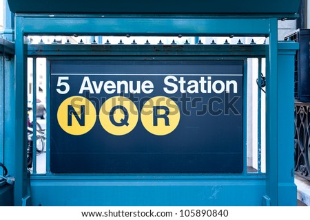5th Avenue subway station in New York City. - stock photo