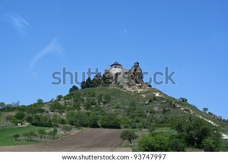 13th century Boldogko castle in hungary - stock photo