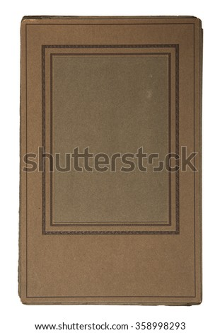 19th century cardboard picture frame