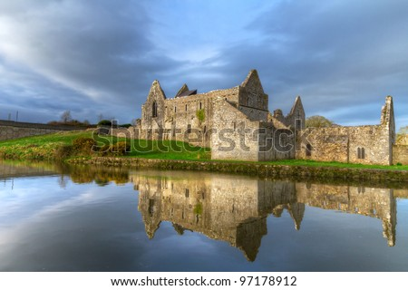 14th Century Franciscan Friary in Askeaton, Co. Limerick, Ireland - stock photo