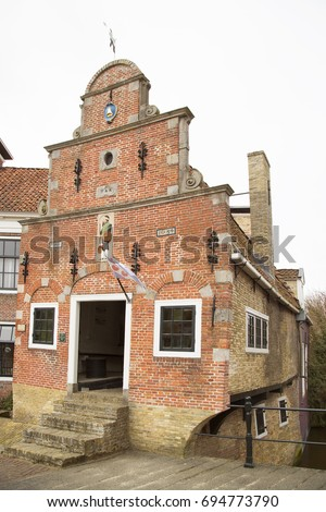 17th century inspection authority house for weighing, balance and accepting  of corn, cereals,