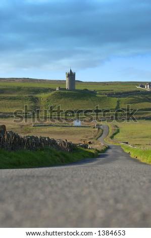 14th Century Irish Castle, Co. Ireland - stock photo