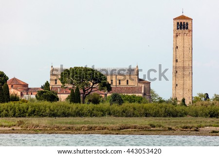 11th century Santa Maria Assunta Cathedral on the sparsely populated Torcello island at the northern end of the Venetian Lagoon, in north-eastern Italy.