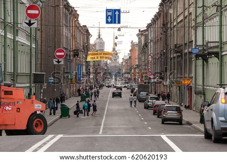 04th July 2011 - Gorohovaya street opened after road reconstruction Gorohovaya street in historic part of St.Petersburg, Russia. The city was founded in 1703, is now the second largest city in Russia