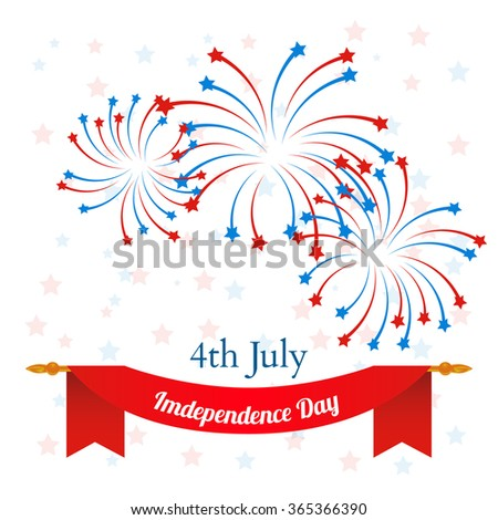 4th of July, American Independence Day celebration background.  - stock photo