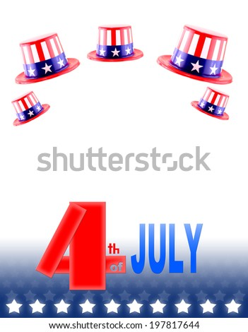 4th of July celebration hat - stock photo