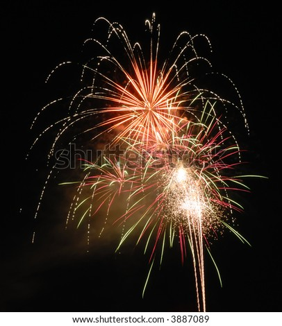 4th of July Fireworks - stock photo