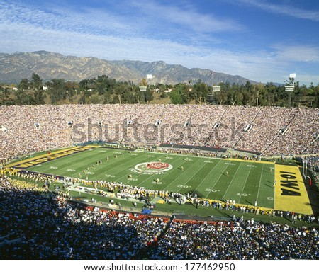 77th Rose Bowl game, Washington v. Iowa, Pasadena, California - stock photo
