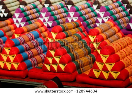 Thailand scatter cushion in isolated - stock photo